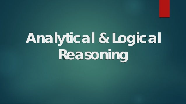 Analytical & Logical Reasoning
