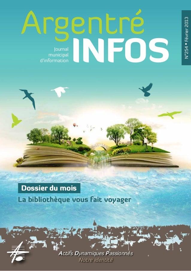 Argentré                                              N°254 • Février 2013   INFOS     Journal           municipal      d'...