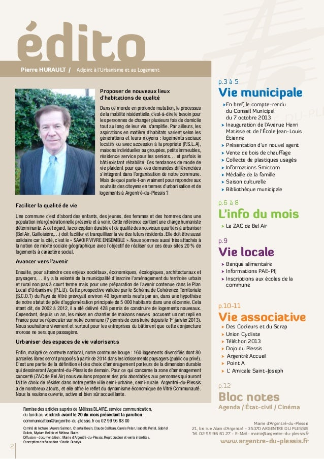 Argentré Infos Novembre 2013 Slide 2