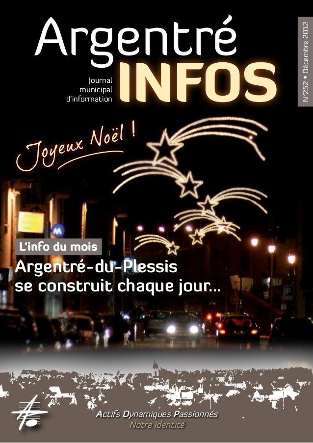Argentré                                                N°252 • Décembre 2012     INFOS     Journal             municipal ...