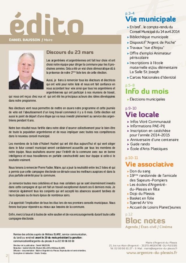 Argentré Infos Mai 2014 Slide 2
