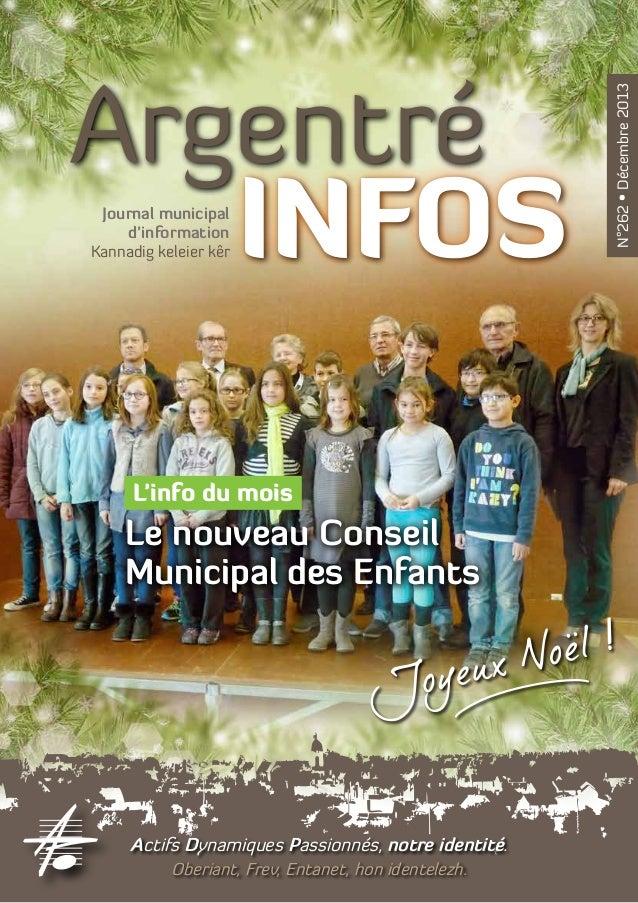 Journal municipal d'information Kannadig keleier kêr  L'info du mois  Le nouveau Conseil Municipal des Enfants  Actifs Dyn...