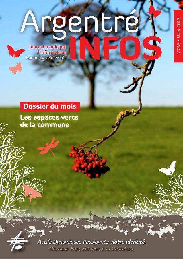 Argentré                                                       N°255 • Mars 2013   INFOS  Journal municipal     d'informat...