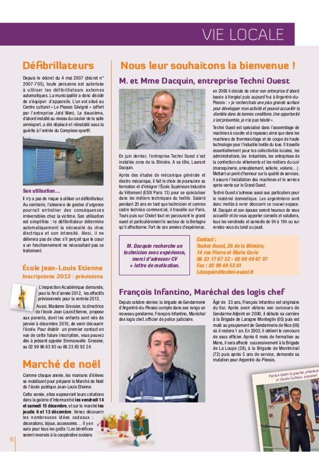Argentré INFOS / N°251 • Novembre 2012                                                                                    ...