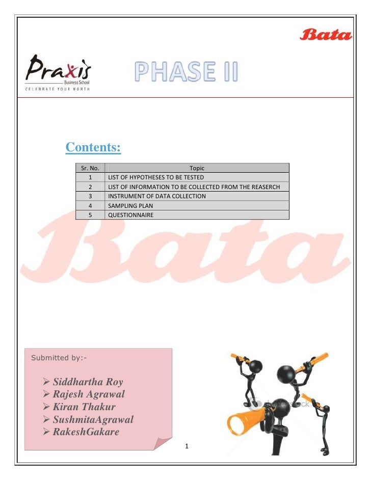 Contents:            Sr. No.                              Topic               1      LIST OF HYPOTHESES TO BE TESTED      ...