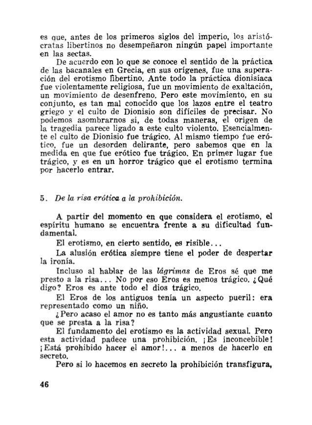 Bataille georges breve historia del erotismo for Erotismo d epoca