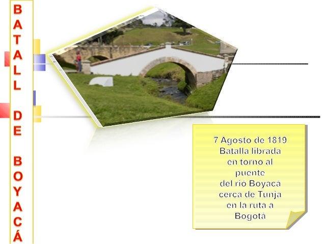 Un momento histórico para Colombia fue la batalla de Boyacá, con ella se obtuvo la independencia del yugo español y la lib...