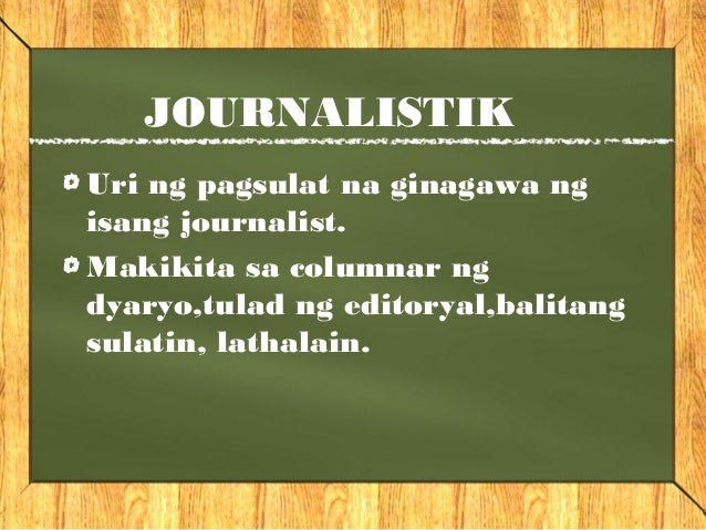 journalistic na pagsulat Reporting in filipino: words that journalists often get wrong  the kwf's manwal  sa masinop na pagsulat notes 4 rules in reflecting dipthongs.