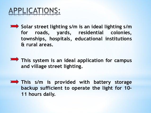 Zigbee Based Solar Light System By Using Ldr