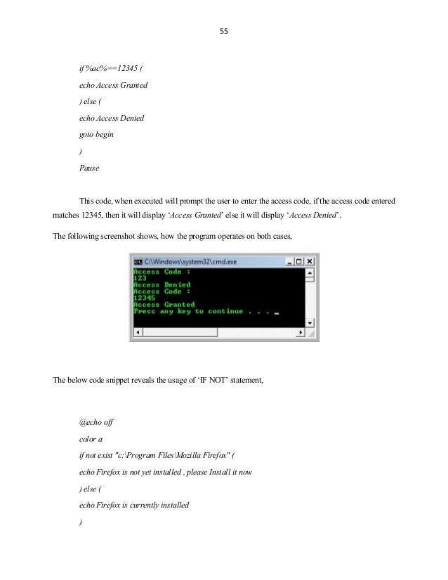Batch file-programming