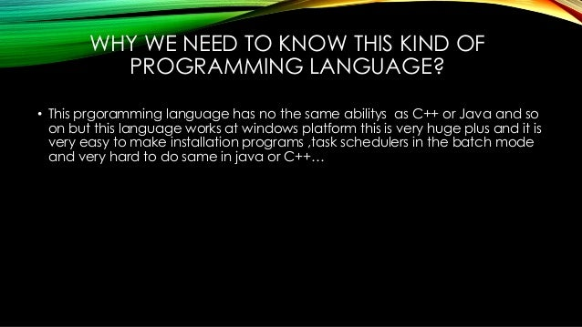 windows batch language