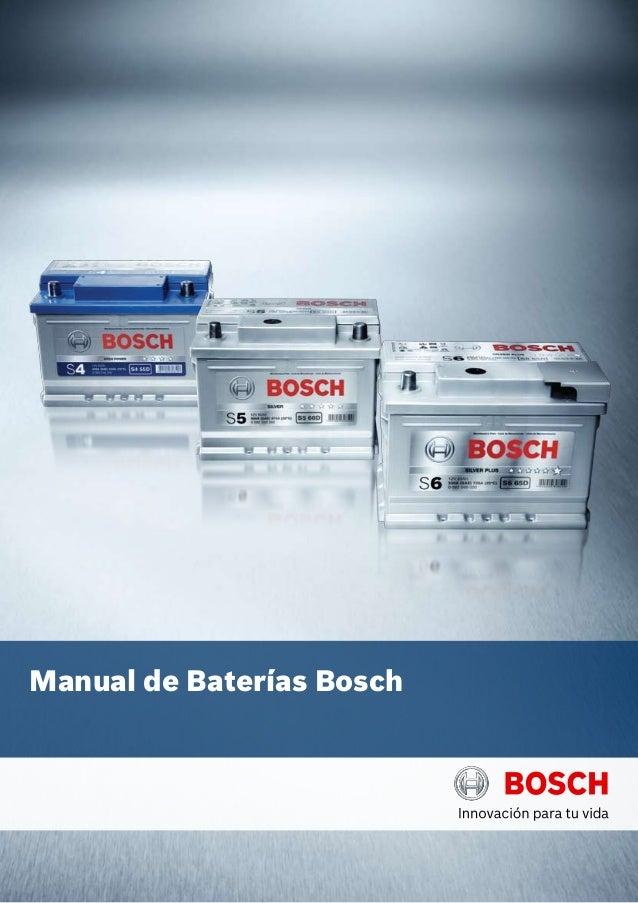 Manual de Baterías Bosch