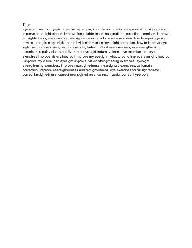 dr bates eye exercises pdf