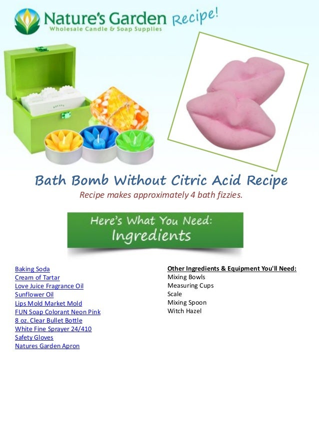 Bath Bombs Without Citric Acid Recipe