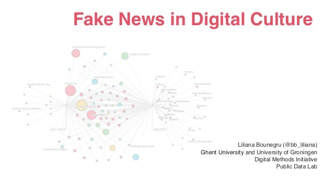Fake News in Digital Culture Liliana Bounegru (@bb_liliana) Ghent University and University of Groningen Digital Methods I...
