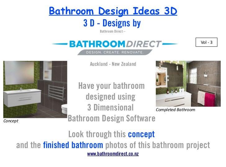 Bathroom Design Ideas 3D                     3 D - Designs by                                Bathroom Direct –            ...