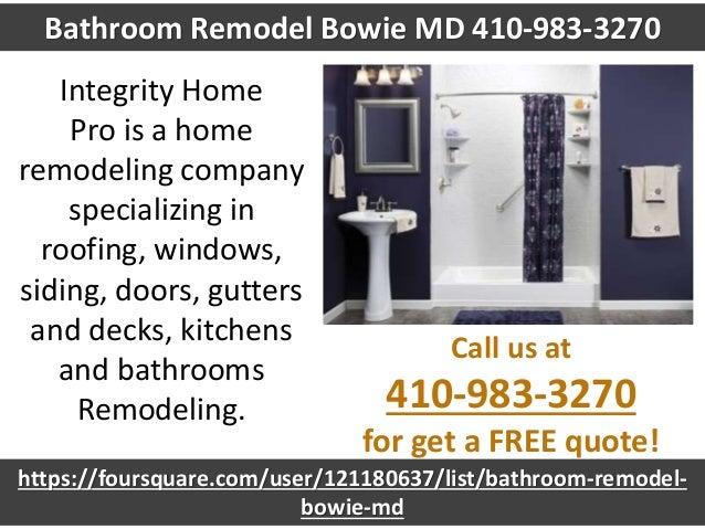 Bathroom Remodel Bowie MD - Bathroom remodeling bowie md