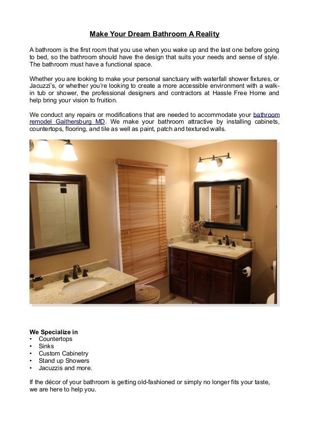 Best Bathroom Remodeling Gaitherburg Md Services