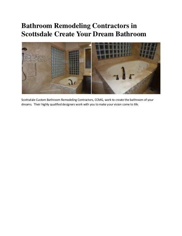 Bathroom remodeling contractors in scottsdale create your ...