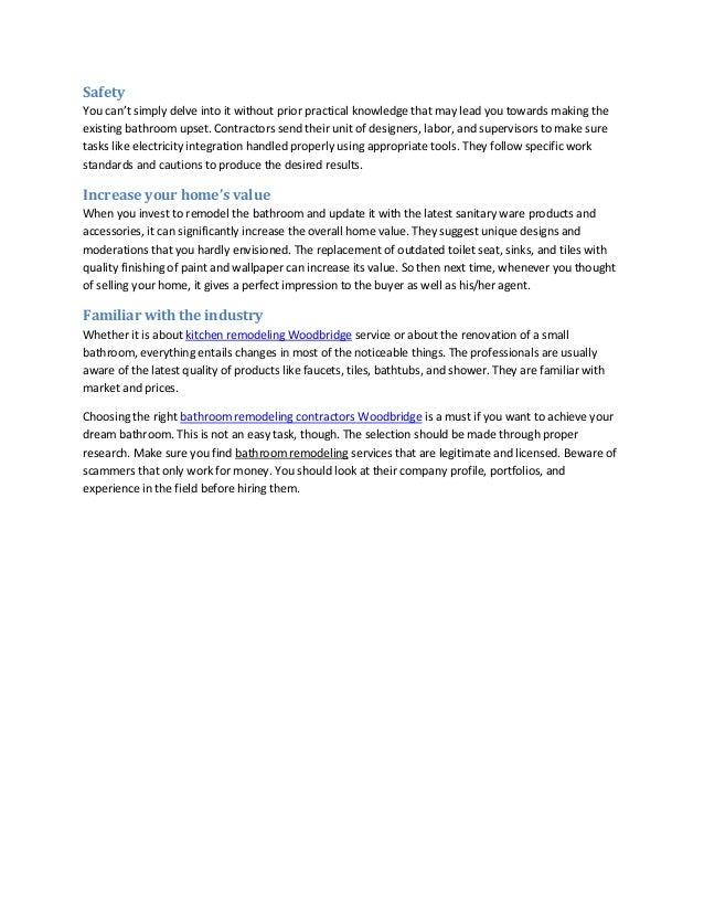Benefits Of Hiring Bathroom Remodeling Contractors