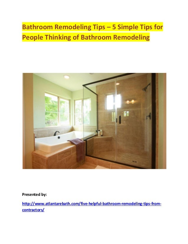 Bathroom Remodeling Tips For A Beautiful Bathroom