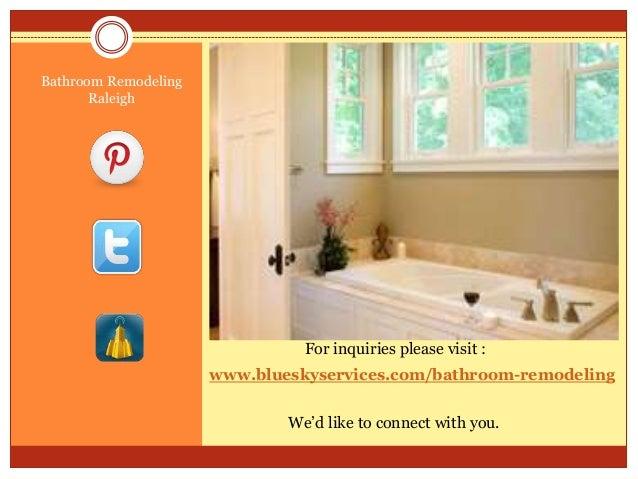 Www.blueskyservices.com/bathroom Remodeling Bathroom Remodeling Raleigh .
