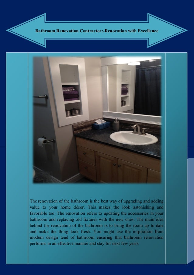 Bathroom Renovation Contractor Renovation With Excellence