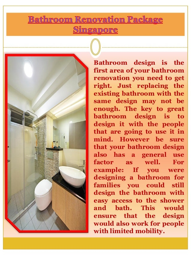 Bathroom renovation package singapore for Bathroom renovation package