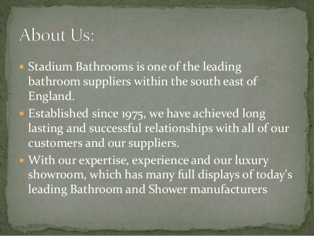  Accessories  Basins  Baths  Heating  Mirrors & Cabinets  Shower Enclosures  Showers  Taps  Toilets  Vanity Units