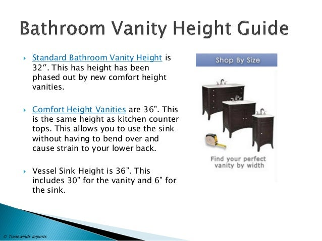 Standard Bathroom Vanity Height .