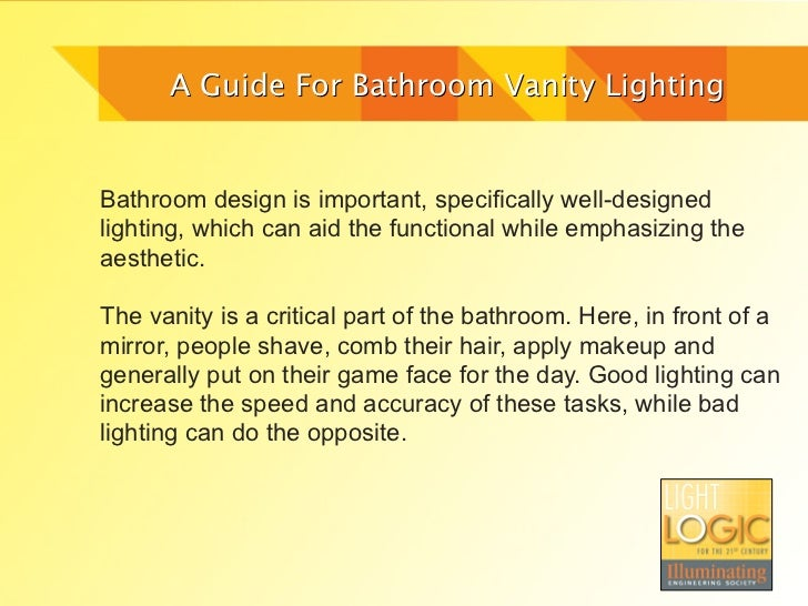 Bathroom Vanity Lighting Guide bathroom vanity lighting guidelight logic