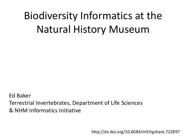 Biodiversity Informatics at theNatural History MuseumEd BakerTerrestrial Invertebrates, Department of Life Sciences& NHM I...