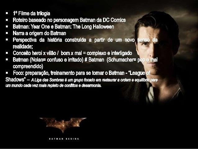 Eu vou mostrar para o povo de Gotham que a cidade não pertence aos criminosos e corruptos. As pessoas precisam de exemplos...