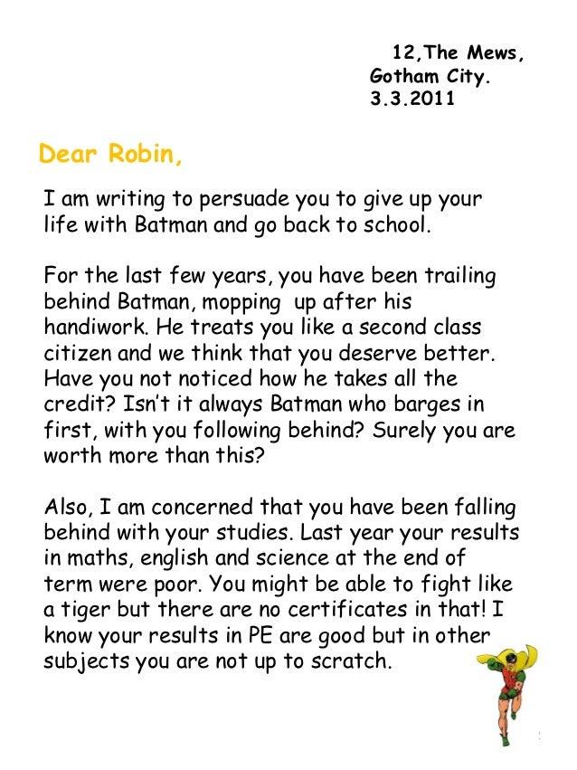 Mulch Write A Persuasion Letter matter