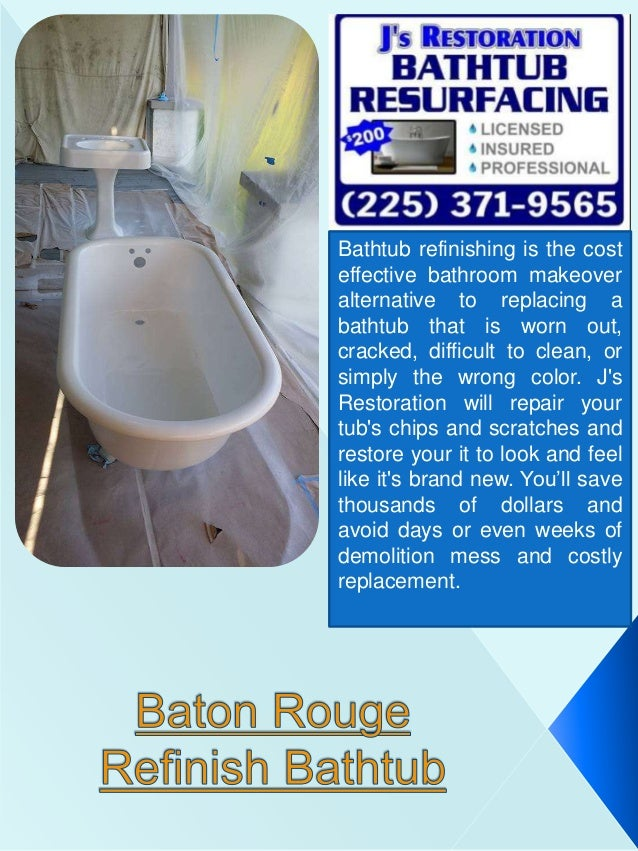 New Orleans Tub Refinish - Bathtub restoration cost
