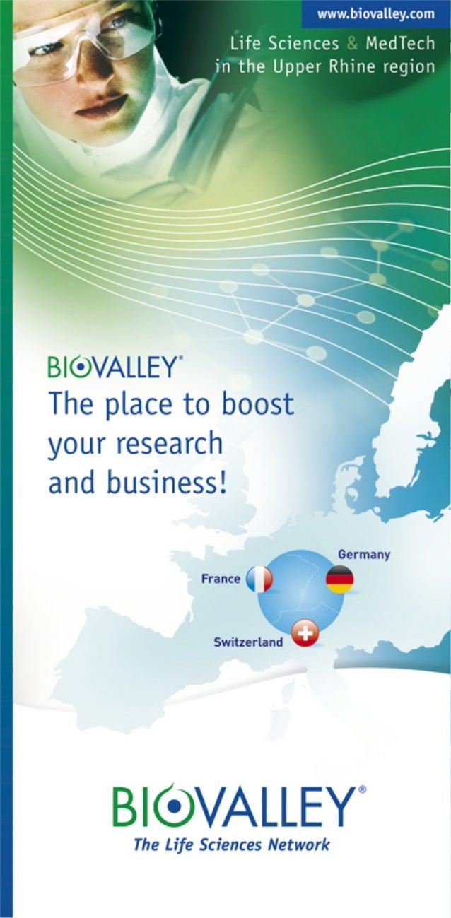 Plaquette présentation BioValley Trinational