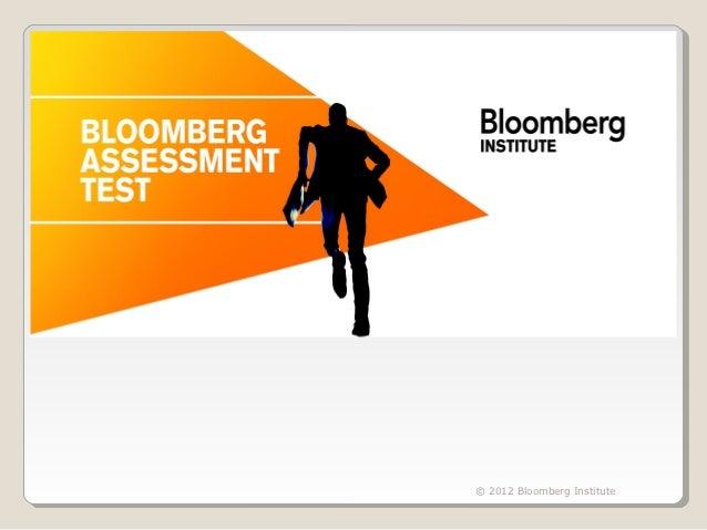 © 2012 Bloomberg Institute