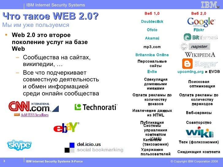 Что такое  WEB 2.0? Мы им уже пользуемся <ul><li>Web 2.0  это второе поколение услуг на базе  Web </li></ul><ul><ul><li>Со...