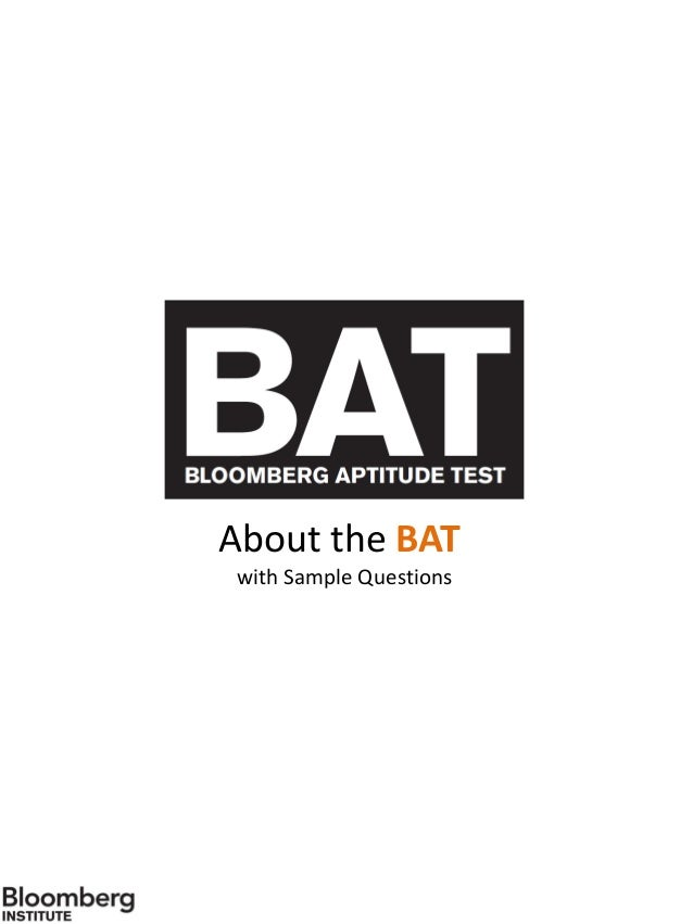 Bat sample questions