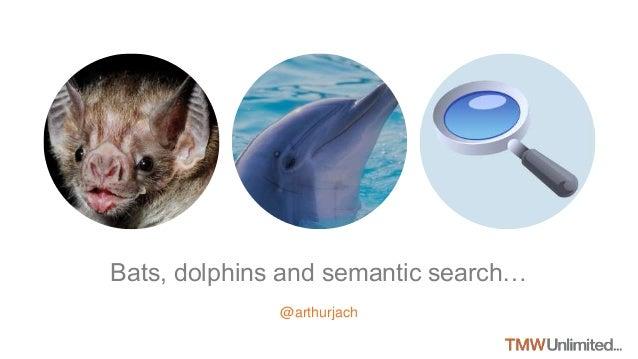 Bats, dolphins and semantic search… @arthurjach