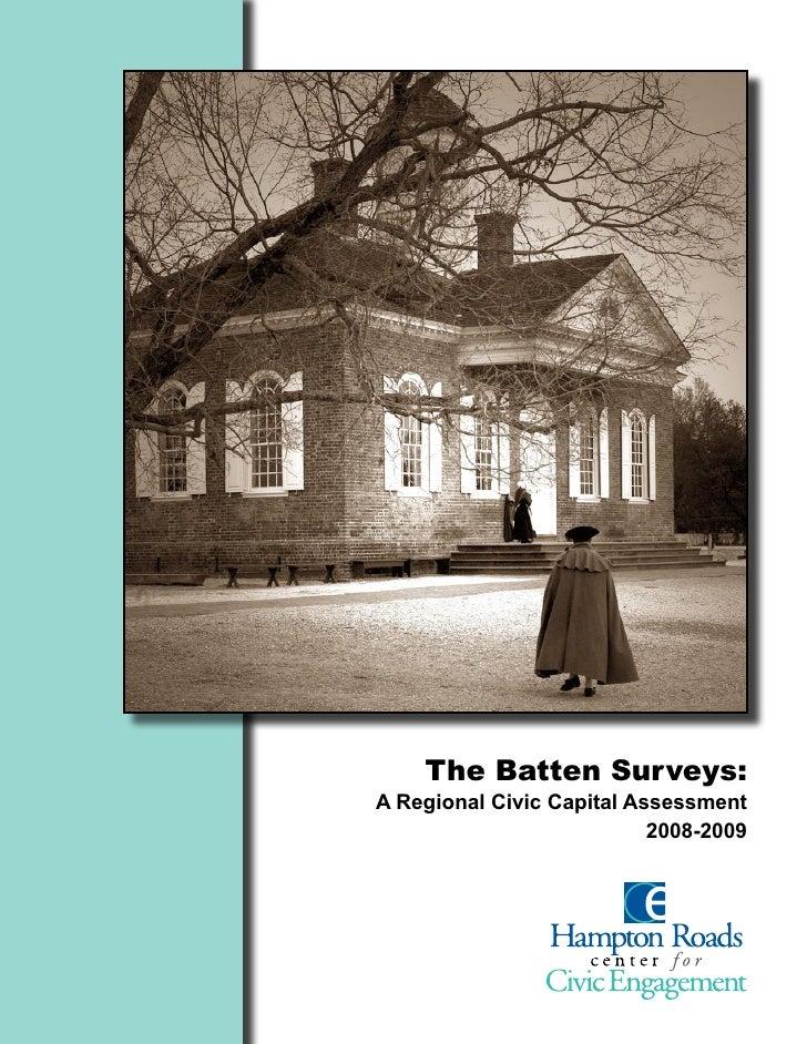The Batten Surveys: A Regional Civic Capital Assessment                            2008-2009
