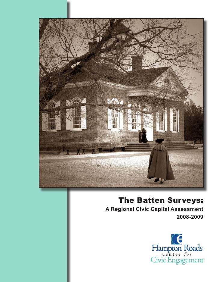 The Batten Surveys: A Regional Civic Capital Assessment                            2008-2009