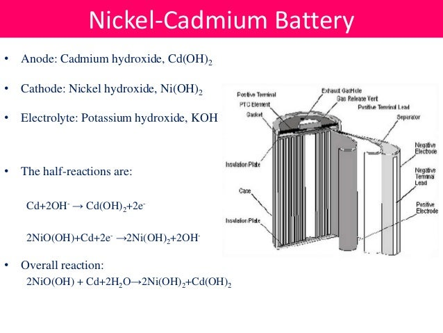 Nickel cadmium cell diagram auto electrical wiring diagram batteries rh slideshare net replacement nicad battery cells lead acid cell ccuart