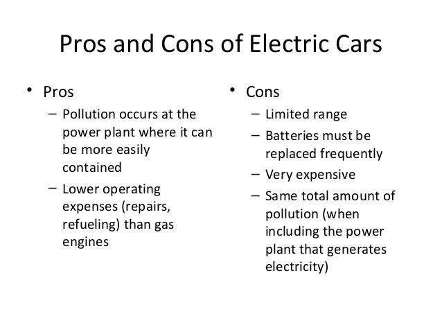 Pros And Cons Electric And Gasoline Cars