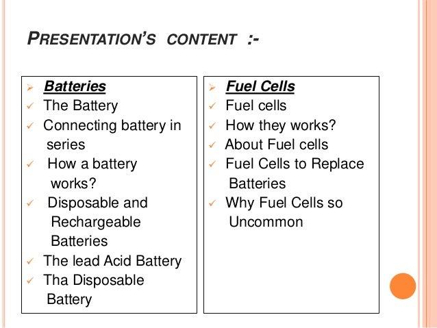 Batteries & fuel cells