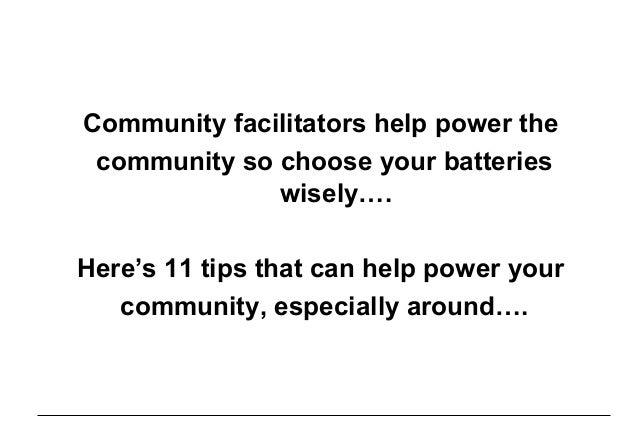 How Community Facilitators can help power the Community Slide 3