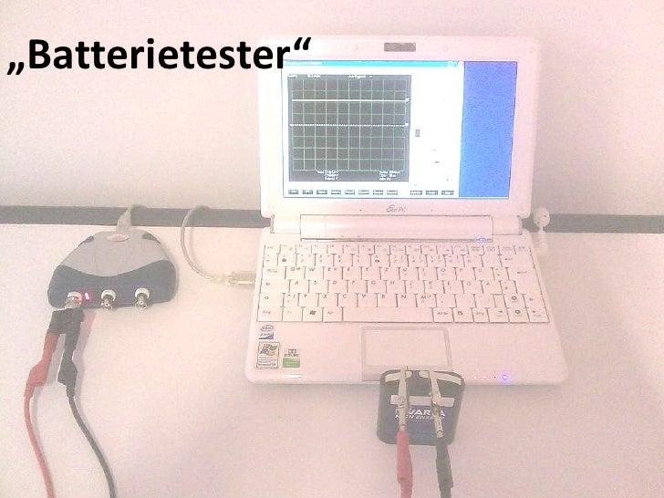 """Batterietester""<br />"