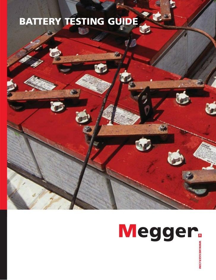 BATTERY TESTING GUIDE                             WWW.MEGGER.COM