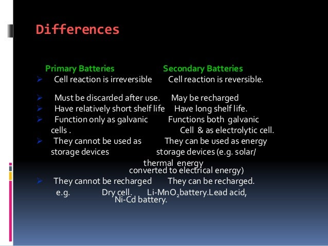 Battery Types And Battery Technology