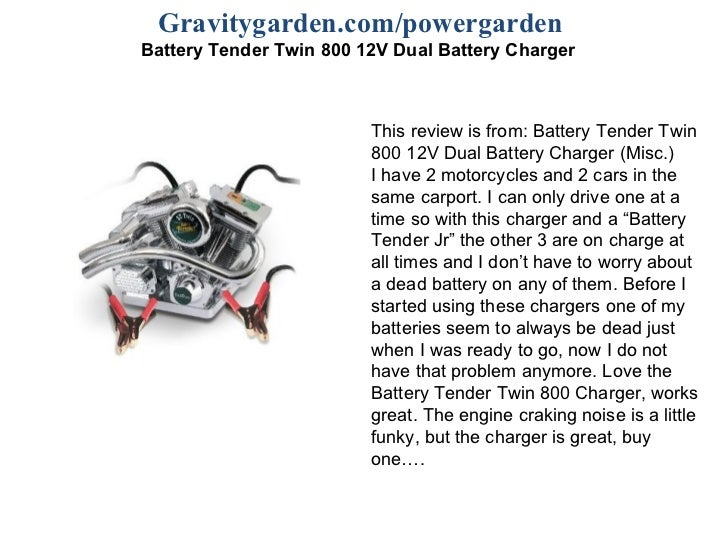 Battery tender twin 800 12 v dual battery charger gravitygardenpowergarden battery tender twin 800 12v dual battery charger this review is sciox Choice Image